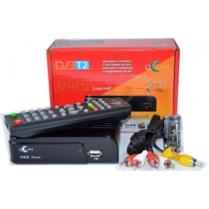 Тюнер приставка Т2, DVB-C, IPTV uClan T2 HD SE Inernet  без экрана