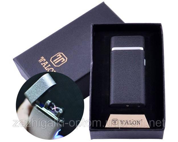 USB зажигалка в подарочной упаковке TALON HL-29 Black (Двойная молния)