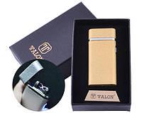 USB зажигалка в подарочной упаковке TALON HL-29 Gold (Электроимпульсная,Двойная молния)