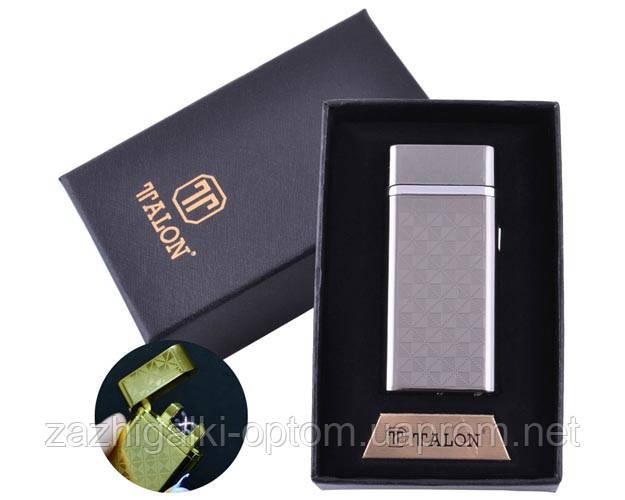 USB зажигалка в подарочной упаковке TALON HL-30-1 (Электроимпульсная,Двойная молния)
