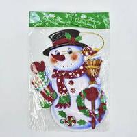 Новогоднее украшение  Снеговик двухсторонний, картон