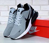 "Кроссовки мужские Nike Air Max 270 Grey ""Серые с белым"" найк аир макс р. 41-45, фото 1"