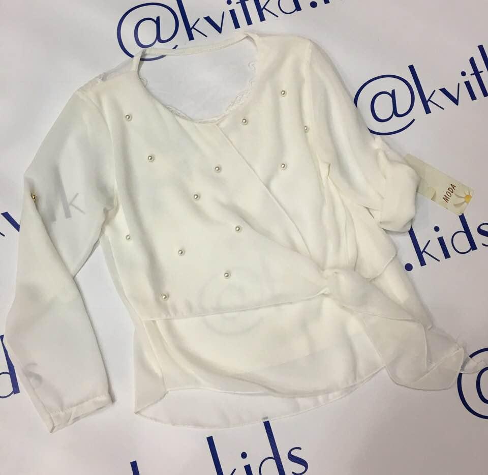 Блуза шифоновая размеры 104 110 116