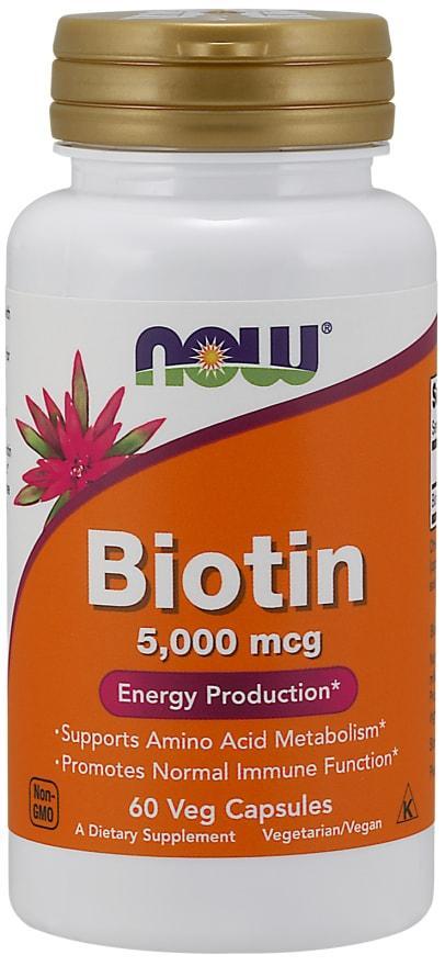 Биотин BIOTIN 5000 мкг 60 капсул до 08/20года
