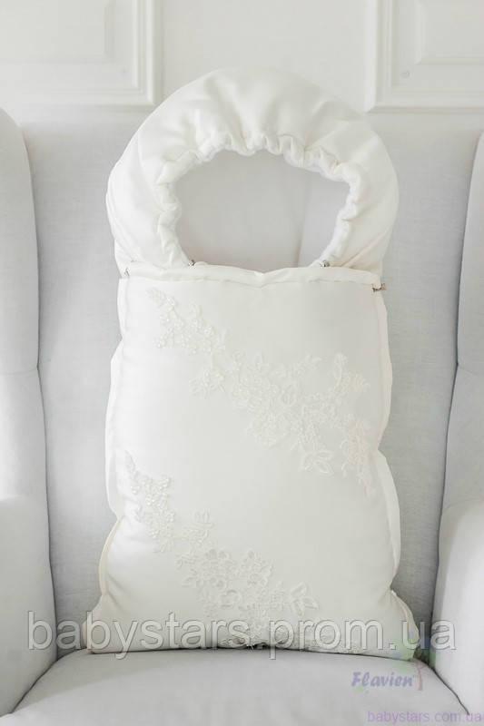Демисезонный конверт-трансформер, молочный