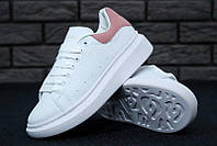 "Кроссовки женские Alexander Mcqueen White/Pink ""Белые с розовым"" александр маккуин р. 36-40, фото 1"