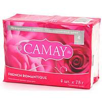 Мыло туалетное  Camay экопак 4*75г