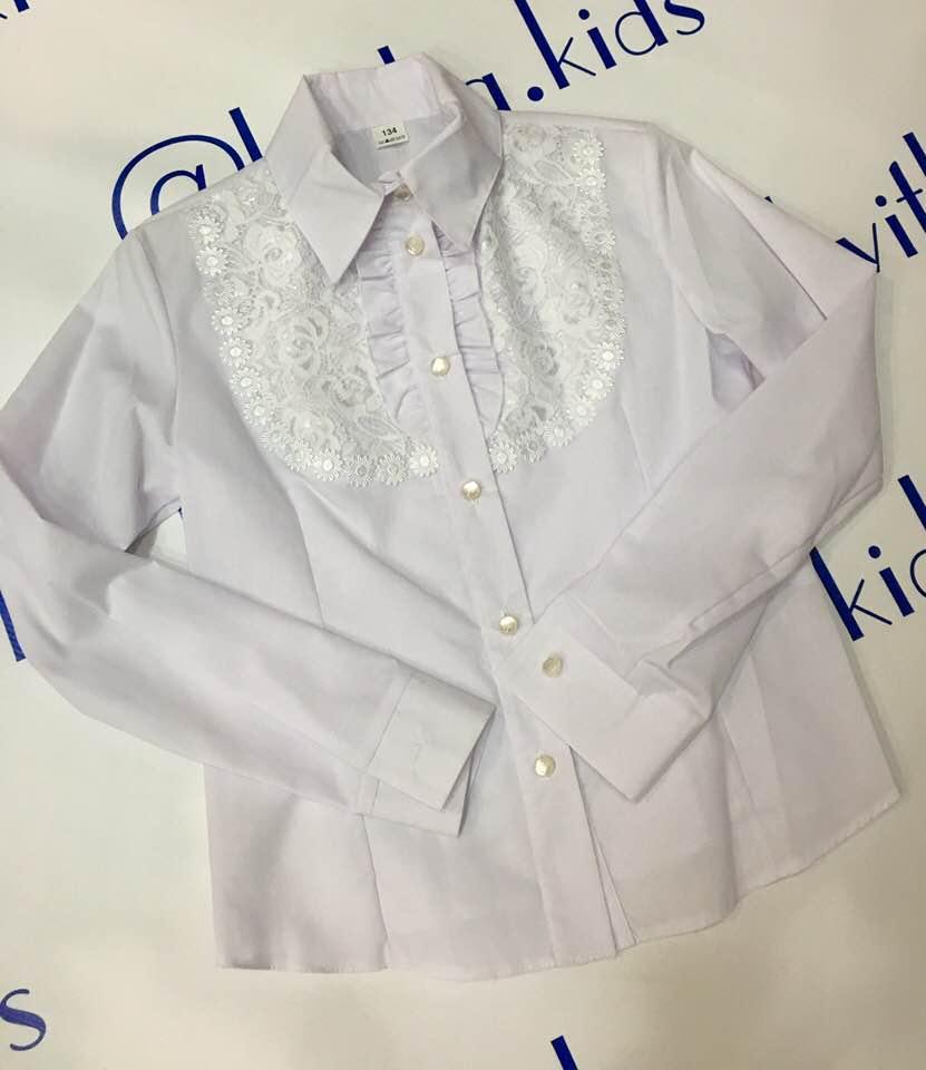 Блуза на девочку размеры 122-158 см