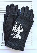 Подростковые трикотажные перчатки для девочек  - длина 19-20 см, фото 2