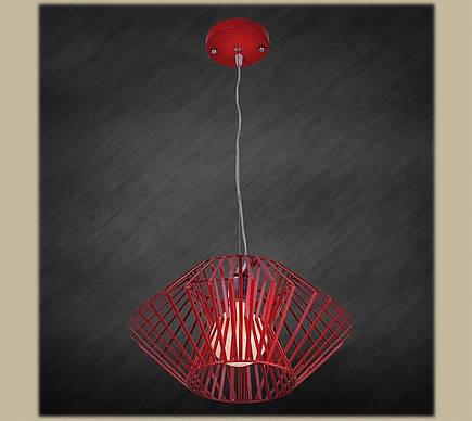 Светильник подвесной красный ромб в лофт стиле LV 7076389-1, фото 2