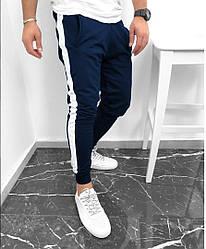 Мужские спортивные штаны синего цвета  (люкс копия)