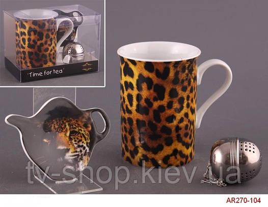"""Чайный набор 3 в 1 """"Леопард"""""""