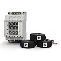 Амперметр на три фазы переменного тока  на дин-рейку АМ3-100 (220В, 0-100А)