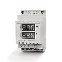 Амперметр-вольтметр АВ1 однофазный переменного тока цифровой на DIN-рейку на 100А