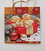 """Новогодний подарочный пакет """"Чашка""""16х16х7,5см"""