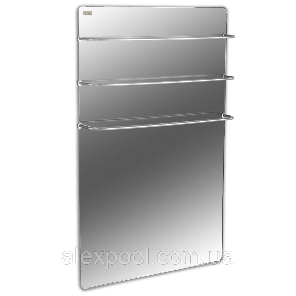 Полотенцесушитель стеклокерамический HGlass Premium 6060 M Зеркало 400 Вт