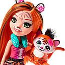 Кукла Enchantimals тигр Тензи Тигра Тайгер с питомцем FRH39, фото 3