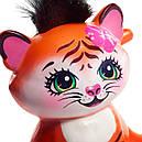 Кукла Enchantimals тигр Тензи Тигра Тайгер с питомцем FRH39, фото 7
