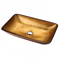 Золотистая стеклянная раковина  GVR-210-RE-15mm