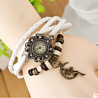 Женские наручные часы с длинным ремешком (луна)/белые