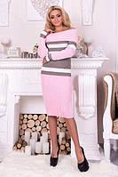 Теплое вязаное платье ПАМЕЛА  р.42-48, фото 1