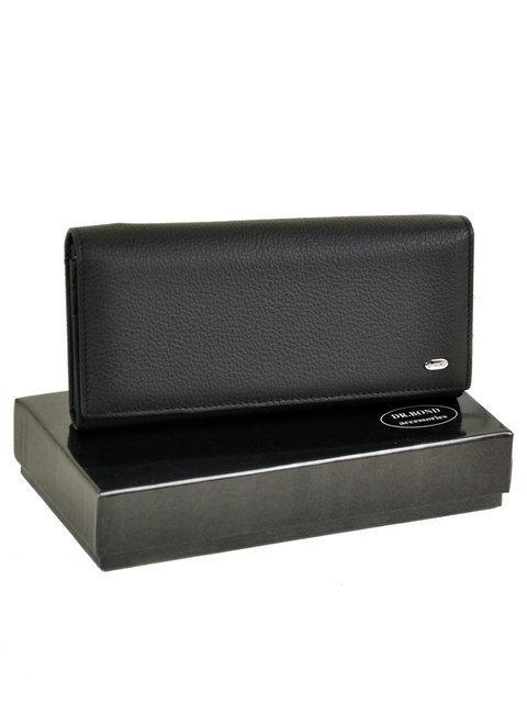 Женский кожаный кошелек Classik  W1-V-2 black DR. BOND