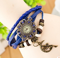 Женские наручные часы с длинным ремешком (луна)/синие