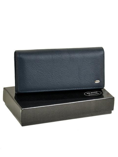 Женский кожаный кошелек Classik  W1-V-2 dark-blue DR. BOND