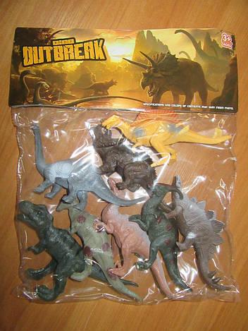 Фигурки динозавров (8 штук) K186 в пакете