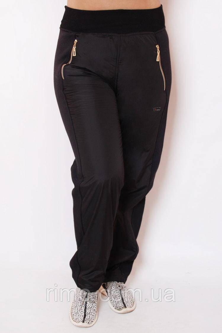 Женские спортивные брюки большого размера А-67 плащевка ФЛИС, женские спортивные брюки для полных
