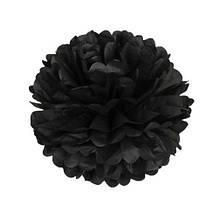 Бумажные помпоны черные 15см