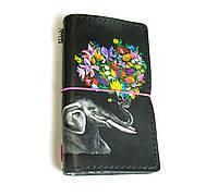 Блокнот ручной работы Слон с цветами (S116L) КОД: 663166