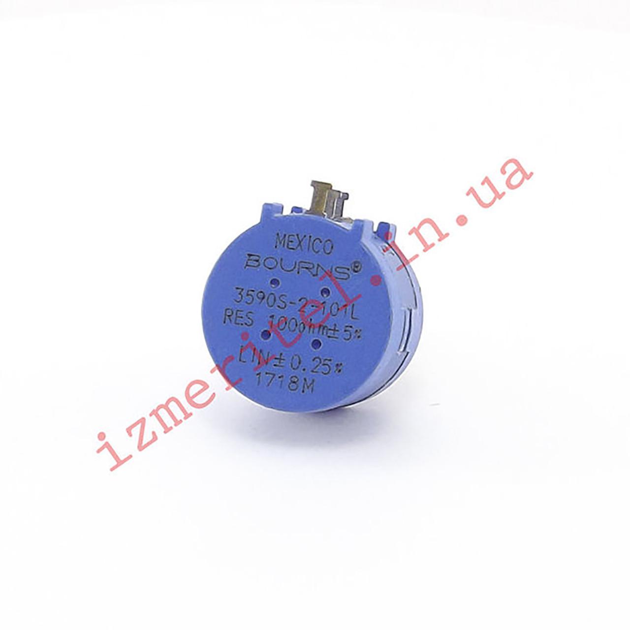Потенциометр многооборотный 3590S 100 Ом