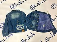 Курточка джинсовая на девочку размер 1-4 года