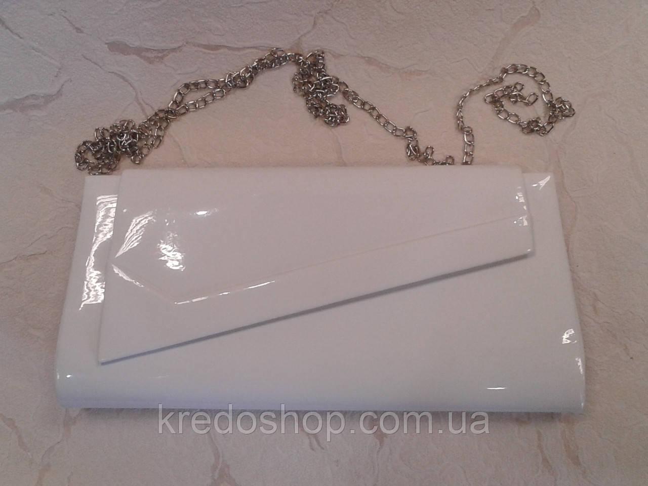 2fbe78517c72 Клатч женский белый лаковый,элегантный стильный(Турция) - Интернет-магазин  сумок и