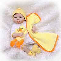 Кукла реборн 57 см полностью виниловая девочка Наденька