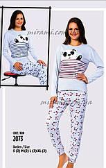 Женские пижамы плотный коттон, цвет серый