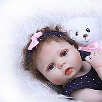 Кукла реборн 57 см полностью виниловая девочка Лариса