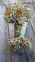 Оберег Дидух с колосьев и сухоцветов, в-40 см., 250