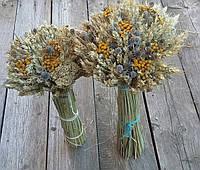 Дидух с колосьев и сухоцветов, рождественский оберег в-40 см., 250