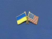 Значок Украина-США (Значки с украинской символикой)
