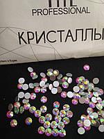 "Стразы ТМ ""CRYSTAL"" холодной фиксации SS20 Crystal AB. Цена за 144 шт"