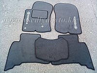 Ворсовые коврики Тойота Land Cruiser Prado 150 (Серые)