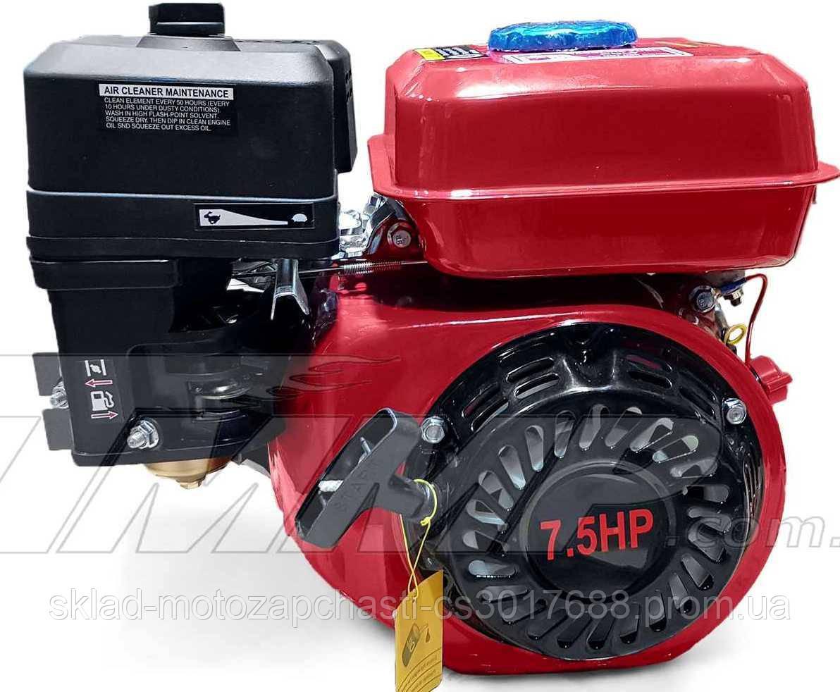 Двигун мотоблока 170F d=20mm під шліц (7,5 HP, датчик масла , паперовий фільтр)