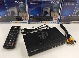 Цифровой эфирный тюнер Веко Т7 DVB T2 Youtube IPTV Beko металлический корпус