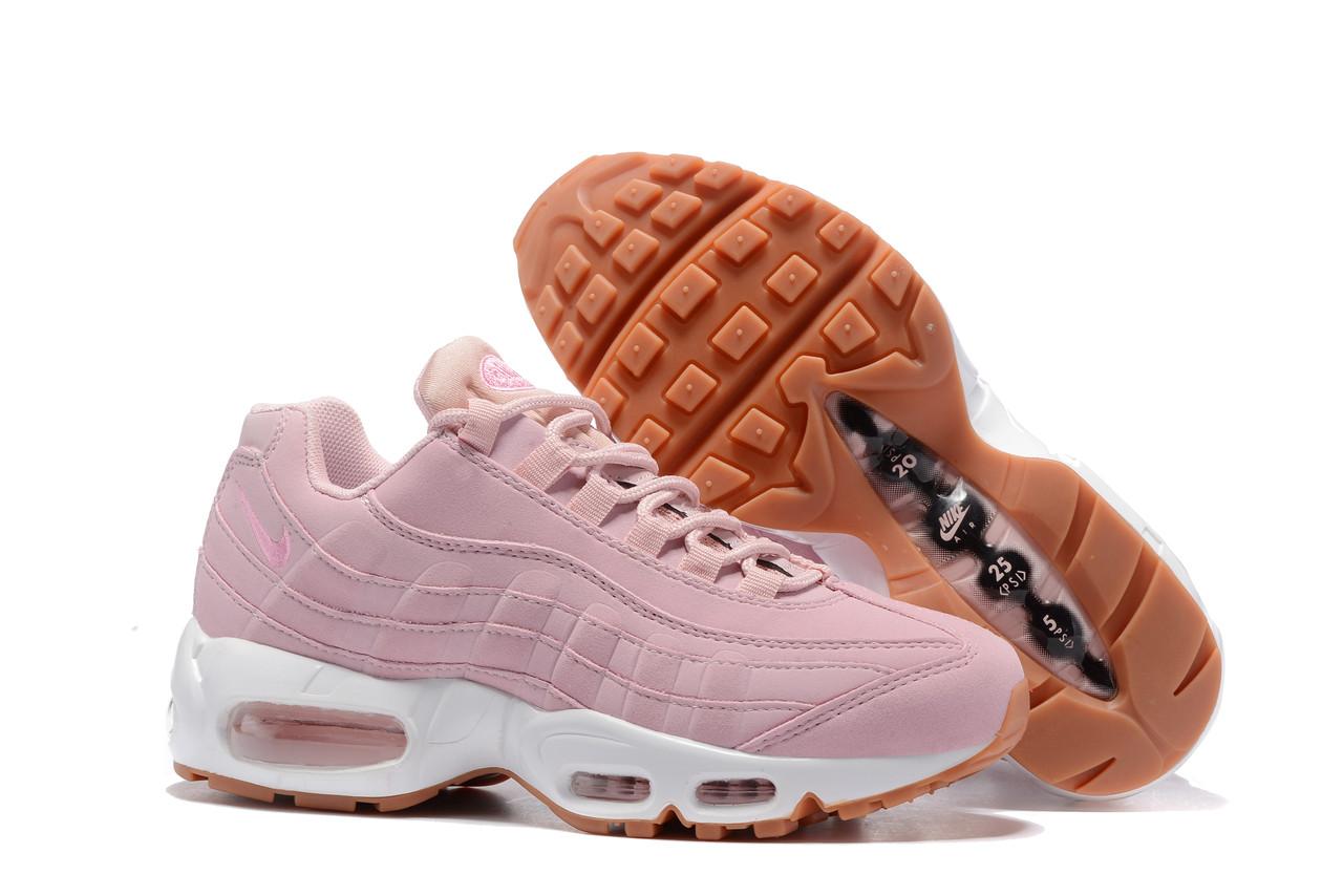 4d0d6121 Женские кроссовки Nike Air Max 95 Pink White розовые - SportBoom.com.ua -
