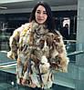Шуба (куртка) из лоскута лисы 60 см