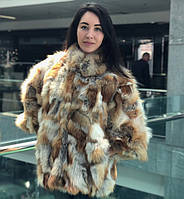 Шуба (куртка) из лоскута лисы 60 см, фото 1