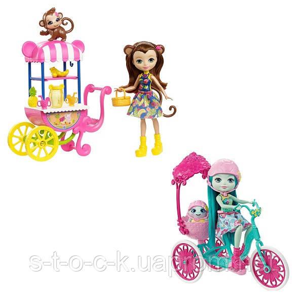 Mattel Enchantimals FJH11 Кукла со зверюшкой и транспортным средством (в ассортименте)