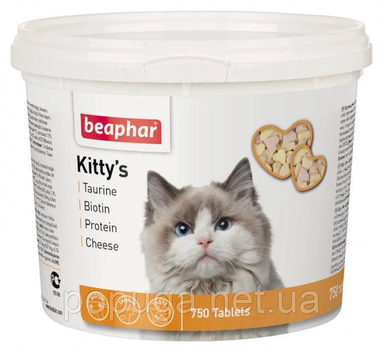 Beaphar Kitty's Mix - витамины для взрослых кошек, 750 табл.